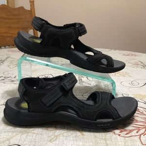 Clark Wave Suede Leather Sandals Size 11